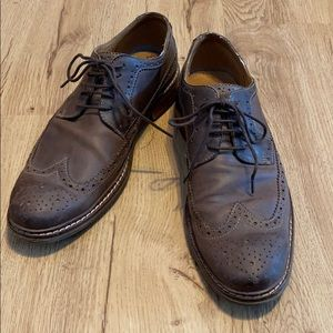 Men's Cole Haan Brown Leather Wing Tip Oxford 9.5